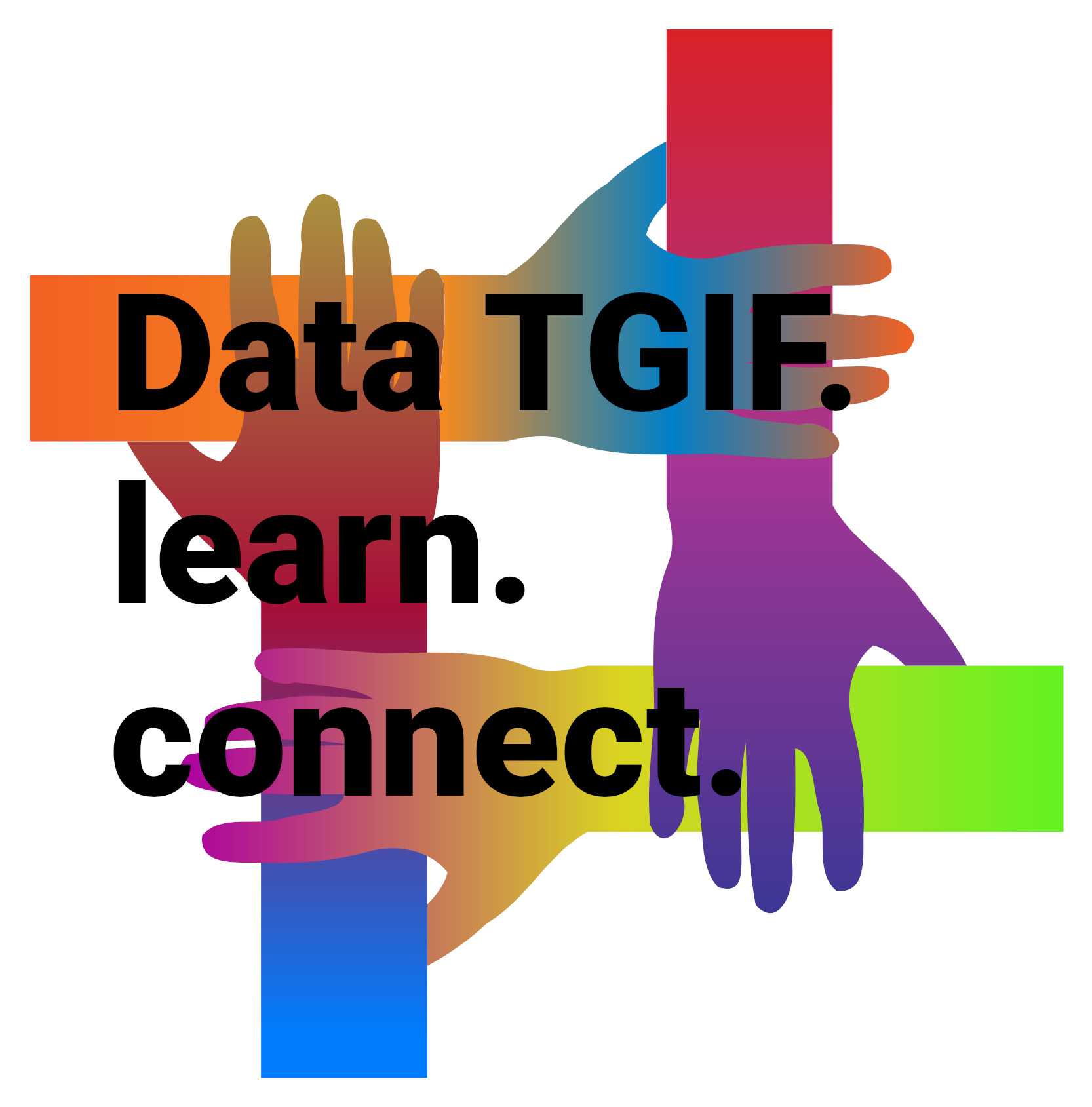 Logo of Data TGIF which represents connecting with everyone